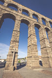 Segovia, Spain - May 6: The Roman Aqueduct of Segovia and the sq Stock Photography