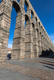 Segovia, Spain - May 6: The Roman Aqueduct of Segovia and the sq Royalty Free Stock Photos