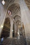 Segovia, Spain. Gothic cathedral interior. Segovia, Spain, May, 9, 2017. Segovia, Spain. Gothic cathedral interior. This cathedral in a beautiful example of Royalty Free Stock Photography