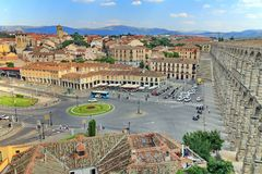 Segovia, Spain. Panoramic view in the historic city of Segovia, Spain Stock Images