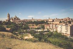Segovia, Spain. Panoramic view of the historic city of Segovia s Royalty Free Stock Photography