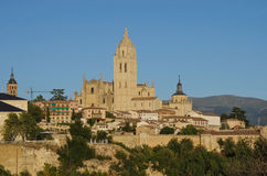Segovia, Spain. Panoramic view of the historic city of Segovia s Royalty Free Stock Photography