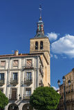 Segovia Spain: Plaza Mayor Stock Photo