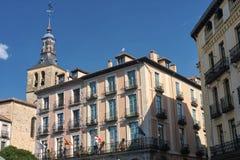 Segovia Spain: Plaza Mayor Royalty Free Stock Photo