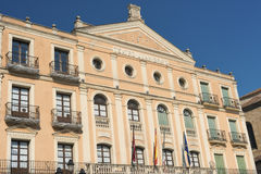 Segovia Spain: Plaza Mayor Stock Images