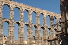 Segovia Spain: Roman aqueduct Royalty Free Stock Images