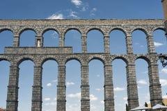 Segovia Spain: Roman aqueduct Stock Image