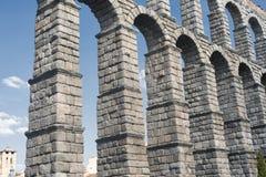 Segovia Spain: Roman aqueduct Royalty Free Stock Photos