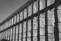 Segovia Spain: Roman aqueduct Stock Photography