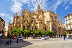 SEGOVIA, SPAIN - SEPTEMBER 6: A cathedral of Segovia — the Cat Stock Image