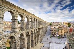 Segovia Spanien akvedukt Arkivfoto