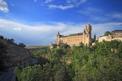 Segovia, Spanien Der Alcazar von Segovia Stockbild