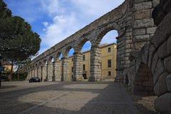 Segovia, Spanien der alte römische Aquädukt Stockfotos