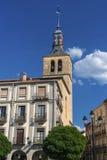 Segovia Spanien: Plazaborgmästare Arkivfoto