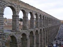 Segovia Spanien Roman Ancient Aqueduct Royaltyfria Bilder