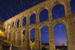 Segovia - Spanien - stjärnaslingor - astronomi Fotografering för Bildbyråer
