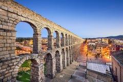 Segovia, Spanje Aquaduct Stock Afbeelding