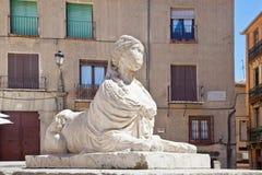 Segovia. Sphinx on an square Juan Bravo Stock Photo