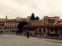 Segovia stad Fotografering för Bildbyråer