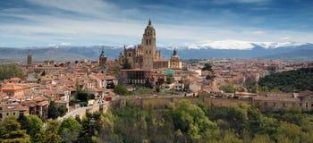 Segovia-Stadt - Ansicht vom Alcazar Stockbilder