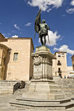 Segovia Statue to Juan Bravo Royalty Free Stock Photos