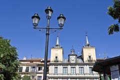 Segovia Town Hall and Lamppost Stock Photo