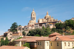 Segovia, view of the city and Cathedral Royalty Free Stock Images
