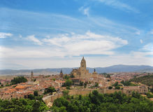 Segovia view of the old town. Castile, Spain Stock Images