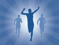 segra för racelöpare stock illustrationer