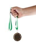 segra för medalj Arkivbild