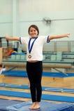 segra för medalj Royaltyfri Foto