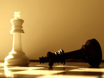 segrar för schackscenariowhite Arkivbilder