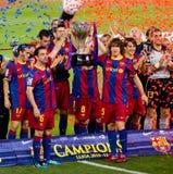 segrar för spanjor för liga för barcelona mästerskapfc Royaltyfri Bild
