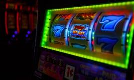 777 SEGRAR vid den Las Vegas kasinot arkivfoto