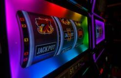 777 SEGRAR vid den Las Vegas kasinot arkivbild