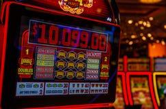 777 SEGRAR vid den Las Vegas kasinot arkivbilder