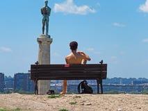 Segraremonument, Belgrade, Serbien arkivbilder