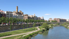 The Segre River in Lleida, Spain Stock Photography