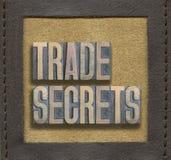 Segredos comerciais quadro Fotografia de Stock Royalty Free