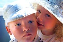 Segredos criançolas Fotografia de Stock Royalty Free