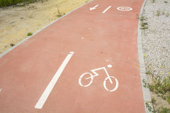 Segregated cycle facilities Stock Photography