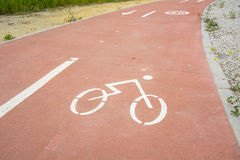 Segregated cycle facilities Royalty Free Stock Photo