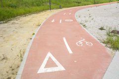 Segregated cycle facilities Royalty Free Stock Photos