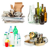 Segregated garbage Royalty Free Stock Photography