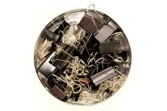 Segregator klamerki w round pudełku obrazy royalty free