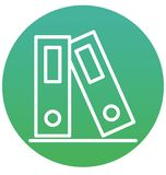 Segregatory, kartotek falcówek Odizolowywająca Wektorowa ikona mogą łatwo redagować lub modyfikujący ilustracji