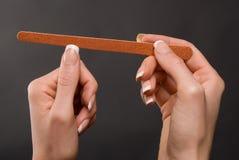 segregowanie żeńscy gwoździe fotografia stock