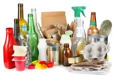 Segregujący śmieci Fotografia Stock