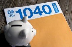 Segreguje twój IRS 1040 zdjęcie royalty free