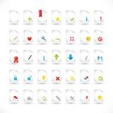 segreguje ustawiać ikon serie royalty ilustracja